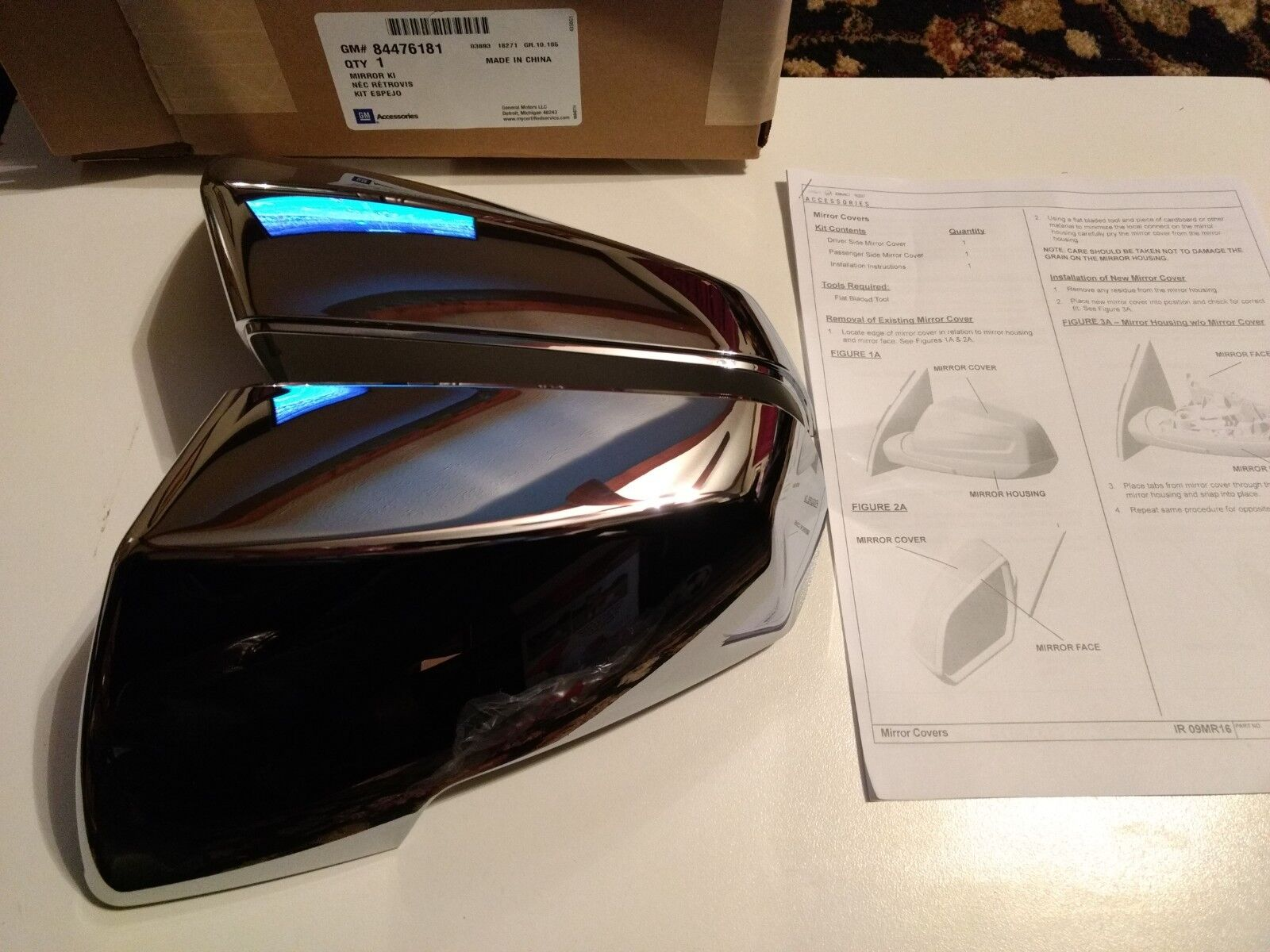 OEM NEW Left and Right Rear View Mirror Covers Chrome 2018 Traverse 23333669