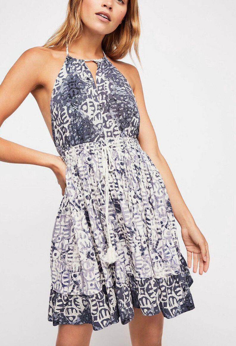 Free People OB816062 Beach Day Halter Short Dress in Ivory
