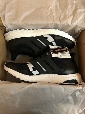 2019 Undefeated x Adidas Ultra Boost 1.0 Blackout 4-13 Black Reflective 3M