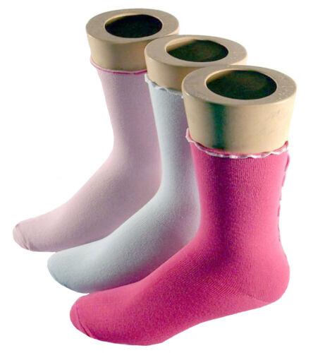 Damen Socken Kräuselnaht farbig 3er Pack