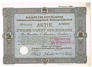 Allianz-und-Stuttgarter-Lebensversicherungsbank-AG-Stuttgart-1928-200-RM-unge