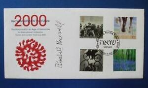 2000 REMEMBERING FOR THE FUTURE FDC SIGNED BY ELIZABETH MAXWELL [ HOLOCAUST ]