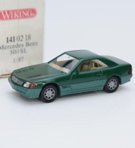OVP Wiking 141 02 18 Mercedes Benz 500 SL Sportwagen in grün G2//18 1:87
