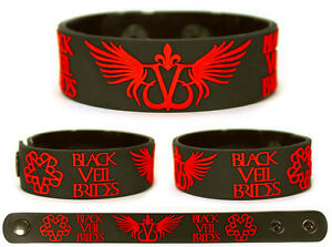 BLACK-VEIL-BRIDES-Rubber-Bracelet-Wristband-The-Story-of-the-Wild-Ones-Red