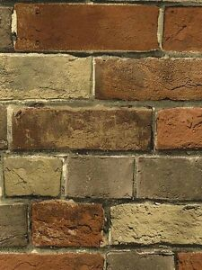 WALLPAPER-SAMPLE-12-inches-Faux-Rust-Tuscan-Brick-Wall-Looks-Real-Up