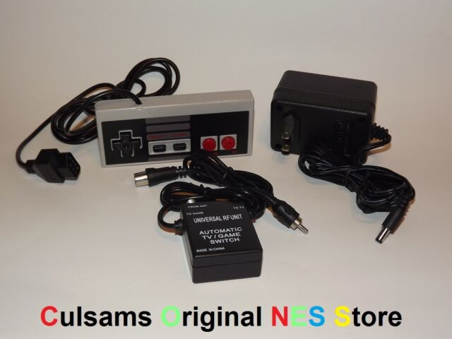 NES AC ADAPTER, RF SWITCH & CONTROLLER WITH GUARANTEE FOR YOUR NINTENDO SYSTEM