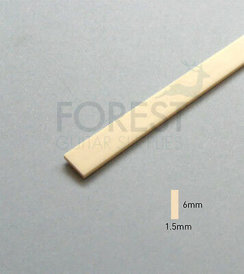 Guitar Binding material Ivory ABS plastic 6 x 1.5mm