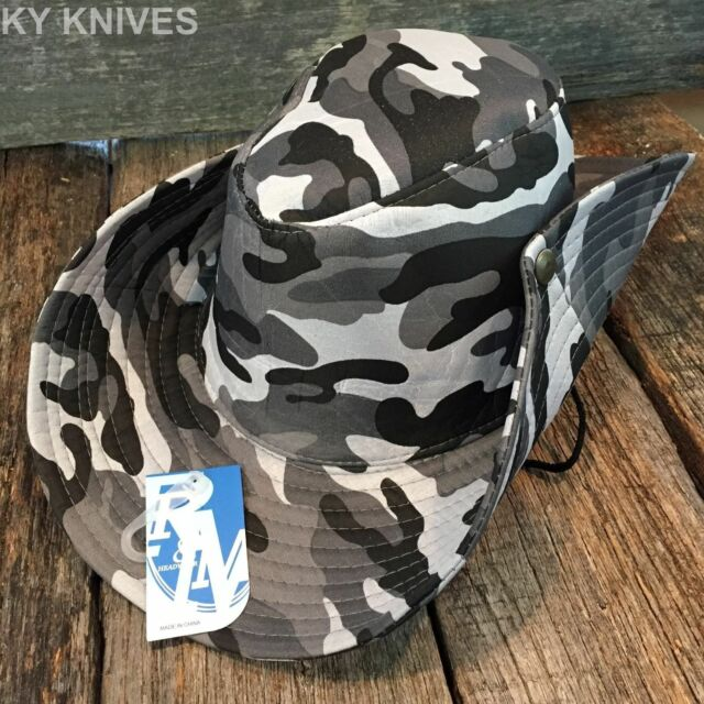 Outback Safari Bucket Flap Boonie Hat Fishing Outdoor NEW HT-350 WHITE CAMO ea9aa9b97d7