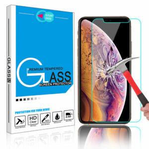 Fuer-iPhone-Xs-Max-5s-6s-7-8-Plus-3D-Gehaertetes-Glas-Display-Schutzfolie-klar-MY