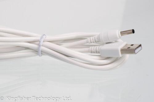 2m USB Cargador con Cable de alimentación de 5V 2A Blanco Plomo Adaptador para Sricam SP006 Cámara IP