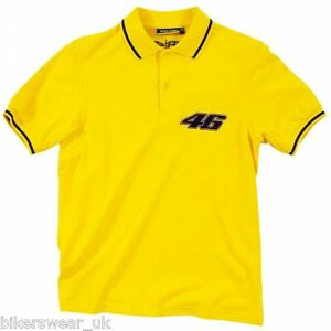 Official Vr46 Polo Yellow Valentino Rossi Polo Neck T Shirt Casual