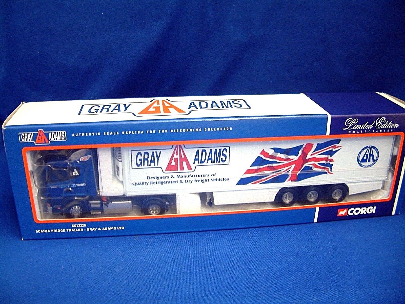 Corgi CC12220 Scania Serie 4-gris y Adams-Edición Limitada
