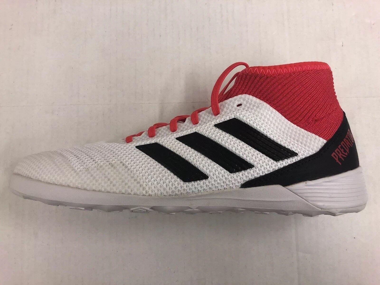 Adidas Predator Tango 18.3 Indoor-Fußballschuhe 11 Weiß / Schwarz / Koralle CP9929 Neu
