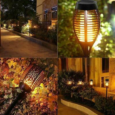 12LED Solarlicht Flackernde Flammenlampe Wasserdichte Gartenrasenlampe imFreien