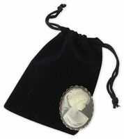 25 Velvet Draw String Pouches Gift Bags Sacks Jewelry Holders - 3 X 4, Black