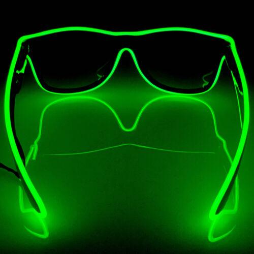 Green Details about  /Euphorium Neon LED Glasses El Wire Rave EDM Midnight Mafia Paradigm AUS