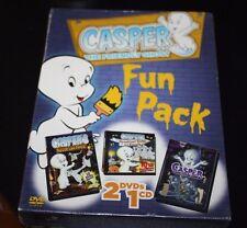New Casper the Friendly Ghost DVD & CD Set Lot  2 DVDs & Spooky Songs CD  -EE