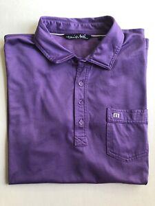 Travis-Mathew-Solid-S-S-Polo-Shirt-Men-s-Large-Purple-Pima-Cotton