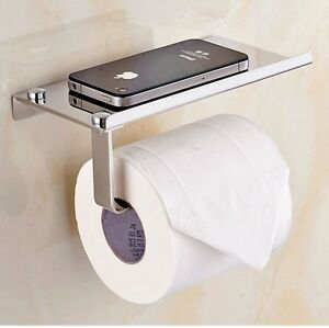 Toilet Roll Tissue Holder Stand Paper Storage Dispensers Wall Mounted Bathroo