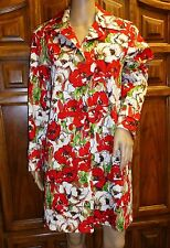 Harve' and Benard Women's Jacket Trench Coat Floral Cotton Blend Spring New