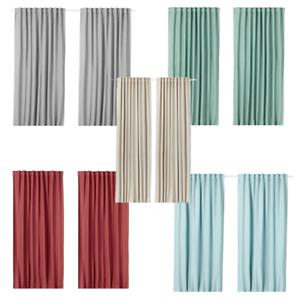 Details zu IKEA VILBORG Vorhang Gardine (Gardinenpaar 2x 145x300 cm) grau  rosa beige rot