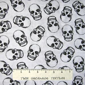 Halloween-Fabric-Tossed-Skulls-on-Fog-Gray-Timeless-Treasures-YARD