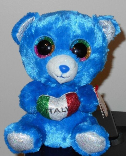 Ty Beanie Boos Set ROMEO The Bear (italy )   RARE Oddity in Hand for ... f72f3d8142