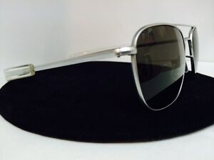 b9ce73f20d2 Image is loading RANDOLPH-ENGINEERING-52mm-Aviator-Sunglasses-Matte-Chrome -Frame-