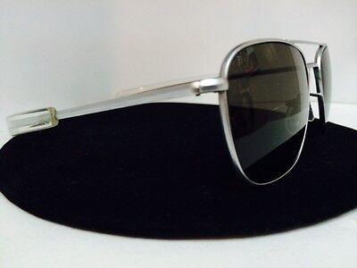 431e1c7e42de Details about RANDOLPH ENGINEERING 52mm Aviator Sunglasses Matte Chrome  Frame Bayonet Temples