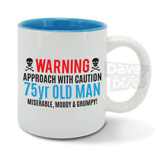 Item 1 WARNING 75 Years Old Man Mug Cup Mr Grumpy Funny 75th Birthday Vintage Year 1943