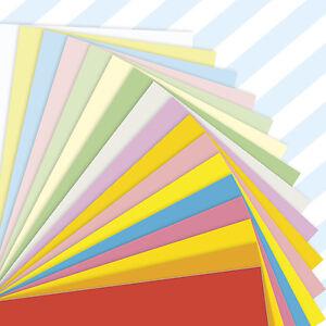 A5-Sheets-Coloured-Craft-Printer-Copier-Card-160gsm-Stock-Pack-Plain