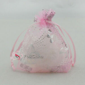 Silver-Butterfly-Pink-Organza-Wedding-Favour-Gift-Bags-Pouches-7x9-9x12-13x17cm