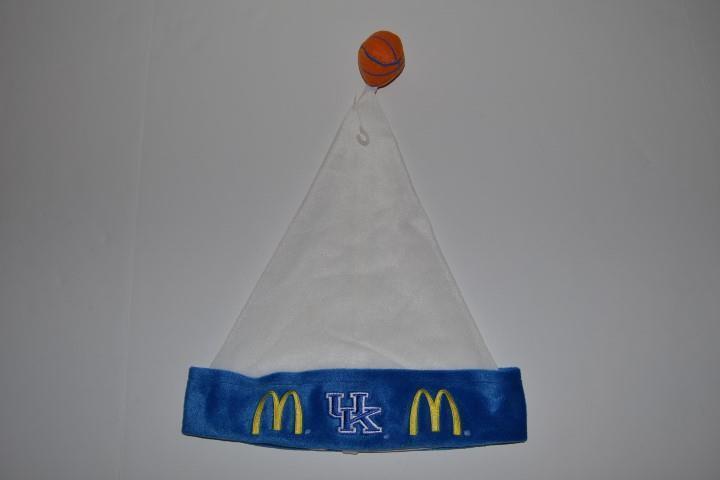 MCDONALDS ALL AMERICAN BLUE NCAA UK KENTUCKY WILDCATS BASKETBALL WHITE BLUE AMERICAN SANTA HAT 74467d