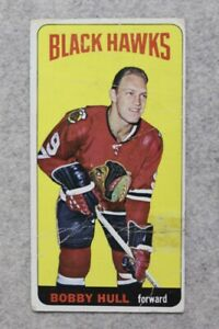 1964-65-Topps-20-BOBBY-HULL-Chicago-Black-Hawks-Vintage-Hockey-Card