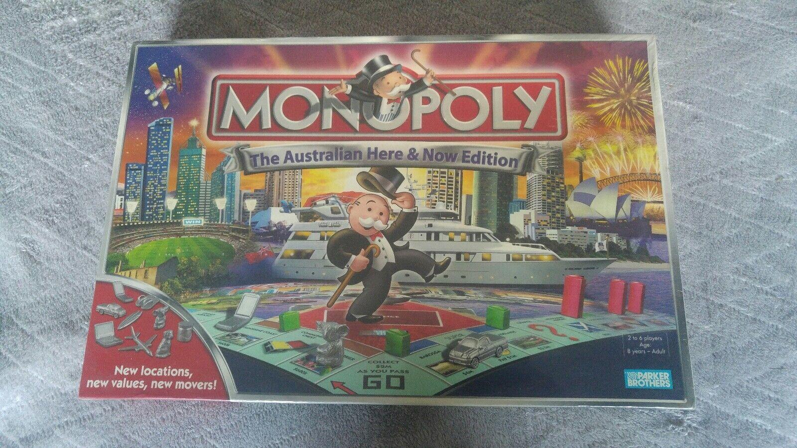Neue versiegelt monopol sammler brettspiel australische hier & jetzt. ausgabe 2007