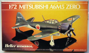 PRL-MITSUBISHI-A6M5-ZERO-MONTAGGIO-MODELLINO-MODEL-1-72-PLANE-AVION-HELLER-039-70