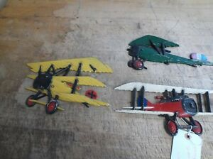 Details About Three Vintage 1975 Homco Ton Airplane Planes Cast Metal Wall Art Decor