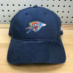 Oklahoma-City-Thunder-OKC-NBA-Basketball-New-Era-9TWENTY-Strap-Back-Hat-Cap-EUC