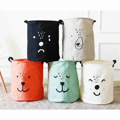 Details about  /Laundry Basket Collapsible Useful Kids Baby Toy Canvas Storage Bag Handbag