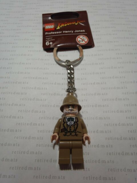 Lego Minifigure Indiana Jones And Henry Jones Key Chain Lot Of 2 Set
