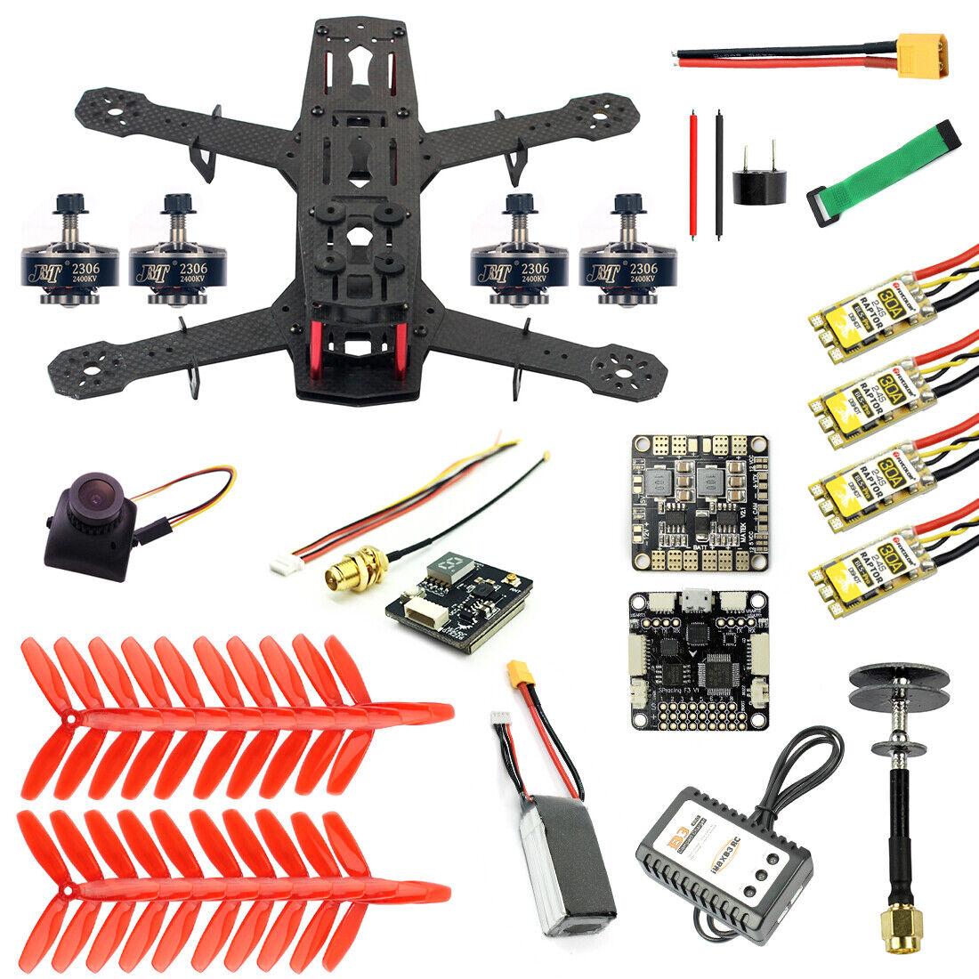 JMT 250 HÁGALO USTED MISMO Vista en primera persona Cuadricóptero Drone Kit de Cámara 250MM 11.1V 1500MAH 40C Batería