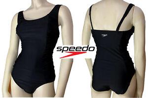 Speedo-Womens-Swimwear-One-Piece-Swimsuit-Shirred-Tank-Endurance-Training-NEW