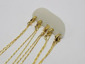 5-Golden-Plated-Link-Snake-Chain-Finished-Necklace-0-8mm-16-034-with-Lobster-Clasp
