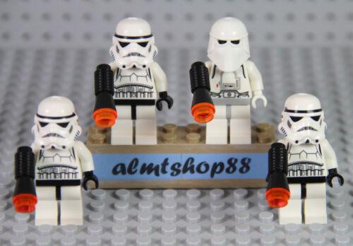 LEGO Star Wars Lot 4x Stormtrooper /& Snowtrooper 8087 10212 30005 7667 10188