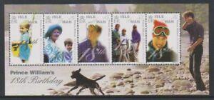 Isle-of-Man-2000-Prince-William-039-s-18th-Birthday-sheet-MNH-SG-MS894
