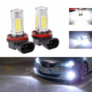 Automobiles & Motorcycles Pair Car Led Bulbs H11 H8 For Auto Fog Driving Light Lens Projector Lamp Foglight Trim Accessories Parts White Color Style Car Fog Lamp