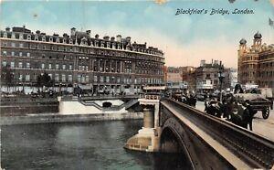 POSTCARD-LONDON-Blackfriar-039-s-Bridge-RP