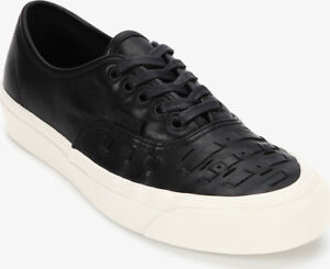 5fd36ff712 Vans Authentic Weave DX Leather Black Men s Skate Shoes Size 8 ...