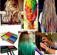 24pcs Hair Dye Chalk Temporary Hair Dye Colour Kit Pastel Colours Salon Best