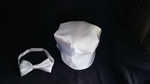 Baby Boy Christening//Baptism //Wedding Cap//Hat Necktie Bowtie set Size 0-24 M